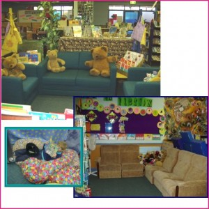 Couches, beanbags ... comfortable seating entices readers