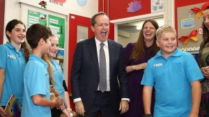 Australia's Leader of the Opposition and Shadow Minister of Education at a local primary school