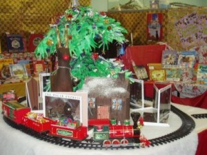 The Polar Express wens its way around Christmas books at Santa's Book Shop