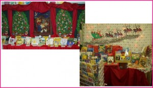 Walls and bulletin boards can be used for festive backdrops.