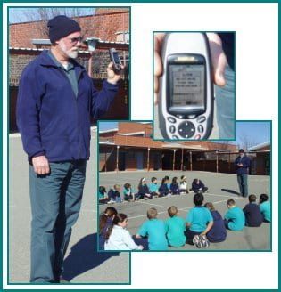 The Building Services Officer had a new-fangled GPS device so as part of a unit investigating the histroy and geography of the local area, he taught Year 6 how to use it! They learned a lot about latitude, longitude, maps and how to use them in a meaningful context.